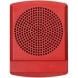 24VDC LED SPKR SQ WALL MNT RED